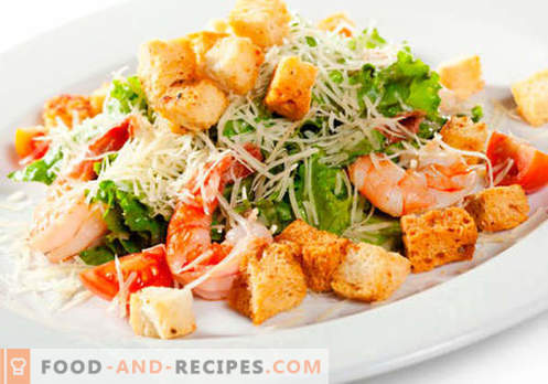 Salads for dinner - the best culinary recipes. How to properly and tasty salads to cook for dinner.