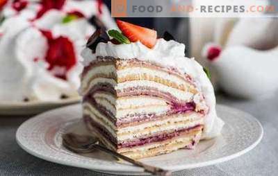 Secrets of cooking pancake cottage cheese cake. Six recipes of classic and original pancake cake with curd cream