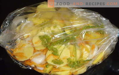 Potatoes baked in an oven sleeve are great! Potatoes in a roasting bag in the oven: classic and new recipes