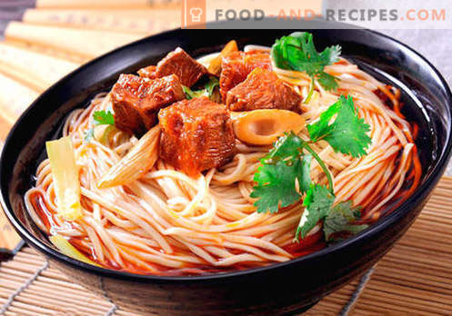 Chinese noodles - the best recipes. How to properly and tasty cook Chinese noodles at home.
