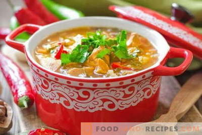 Chicken Kharcho soup - the best recipes. How to properly and tasty cook soup Kharcho of chicken.