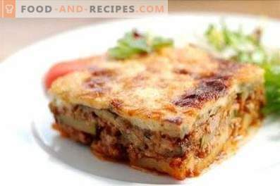 Moussaka in Greek