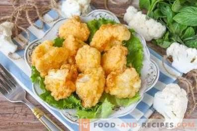 Cauliflower in batter