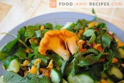 Salads with Chanterelles