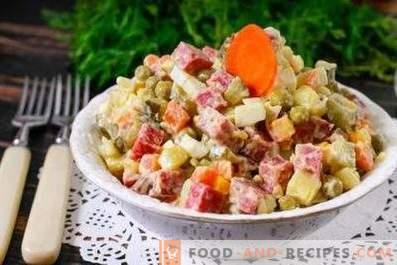 Smoked sausage salads