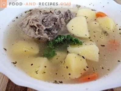 Potato soup in a multicooker