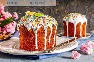 Easter cake with candied fruits