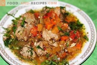 Turkey stewed with vegetables