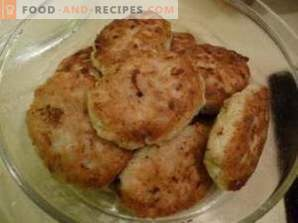 Pike perch cutlets