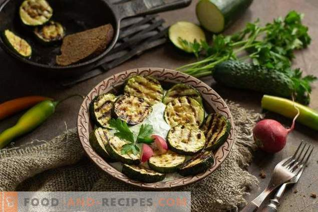Grilled Squash with Cream and Vegetable Sauce