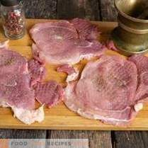 Juicy pork schnitzel