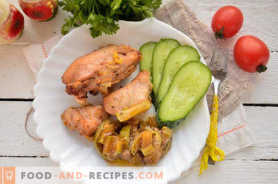 Chicken with courgettes in the oven