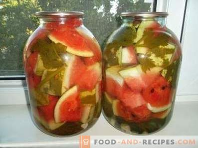 Marinated watermelons for the winter