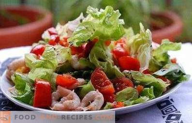 Salads with sea cocktail