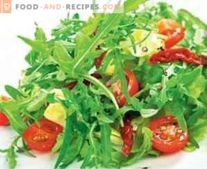 Salads with balsamic vinegar