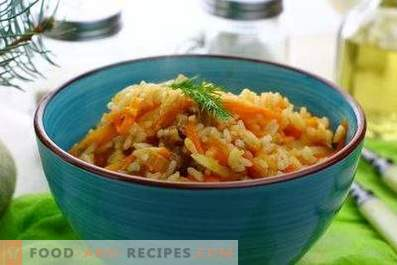 Rice with stew in a pan