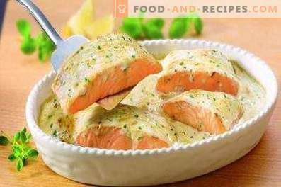 Trout in cream baked in the oven