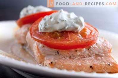 Pink salmon baked in a slow cooker