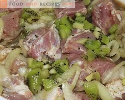 Marinade for kiwi kebab