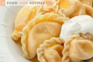 Dumplings with cheese