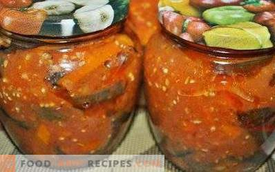 Eggplant in tomato sauce for the winter