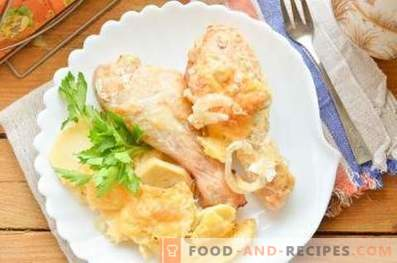 How to cook chicken with potatoes in the oven