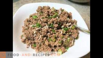 Meat filling for patties