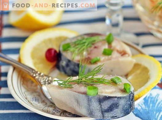 Marinated mackerel - the best recipes. How to marinate mackerel at home.